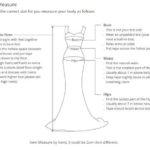 как делать замеры для свадебного платья