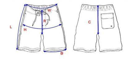как измерить длину шорт на али